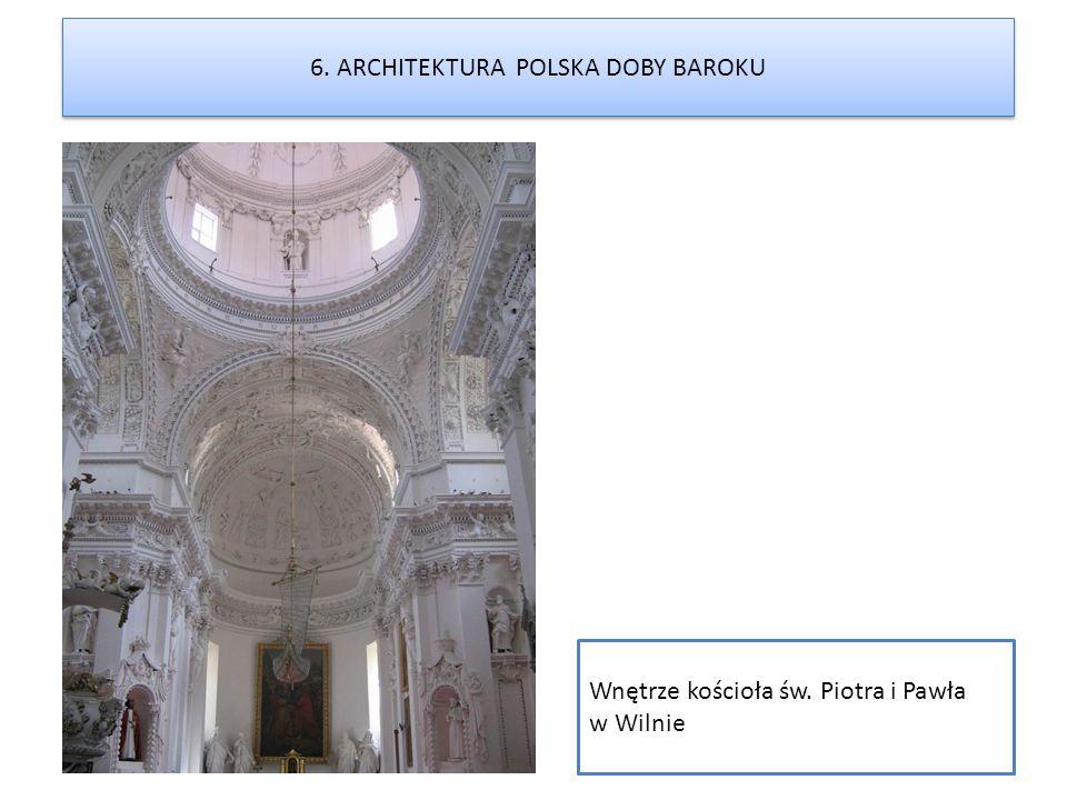 Wnętrze kościoła św. Piotra i Pawła w Wilnie