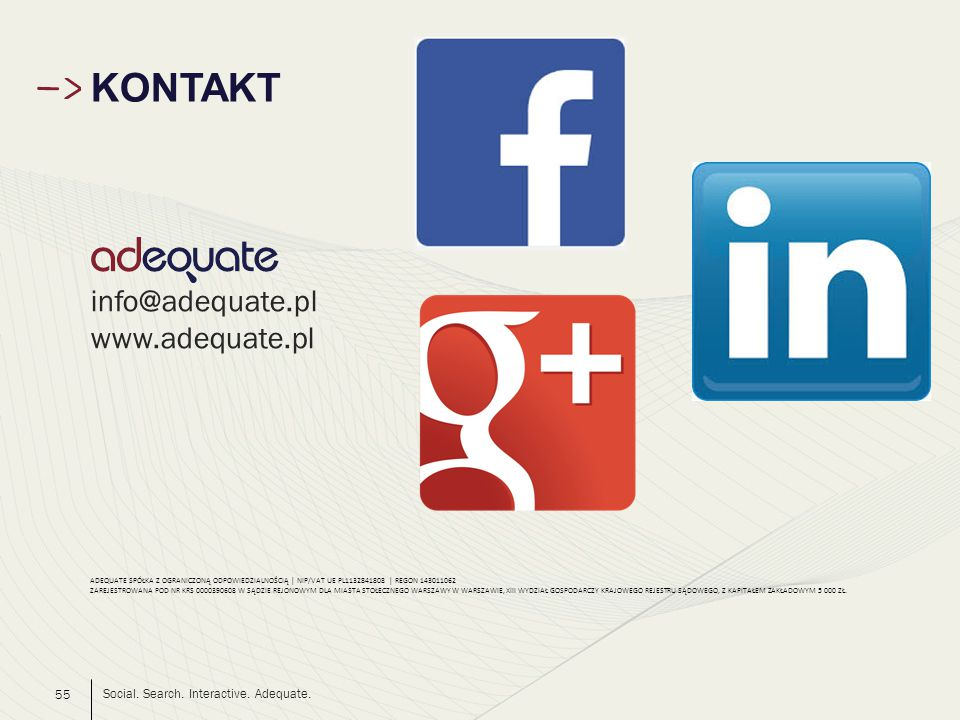 Social. Search. Interactive. Adequate.