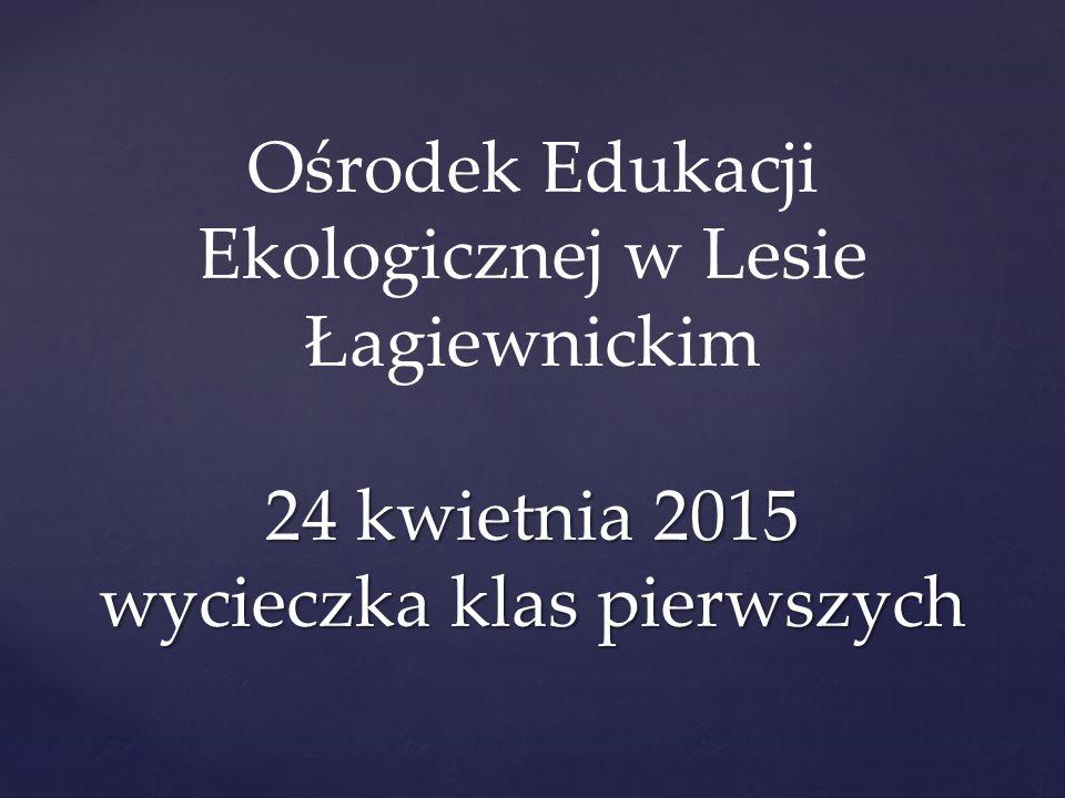 24 kwietnia 2015 wycieczka klas pierwszych Ośrodek Edukacji Ekologicznej w Lesie Łagiewnickim 24 kwietnia 2015 wycieczka klas pierwszych