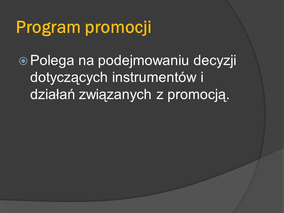Proces tworzenia strategii promocji  Gdy przedsiębiorstwo przygotowuje strategię promocji, musi zachować pewną kolejność postępowania.