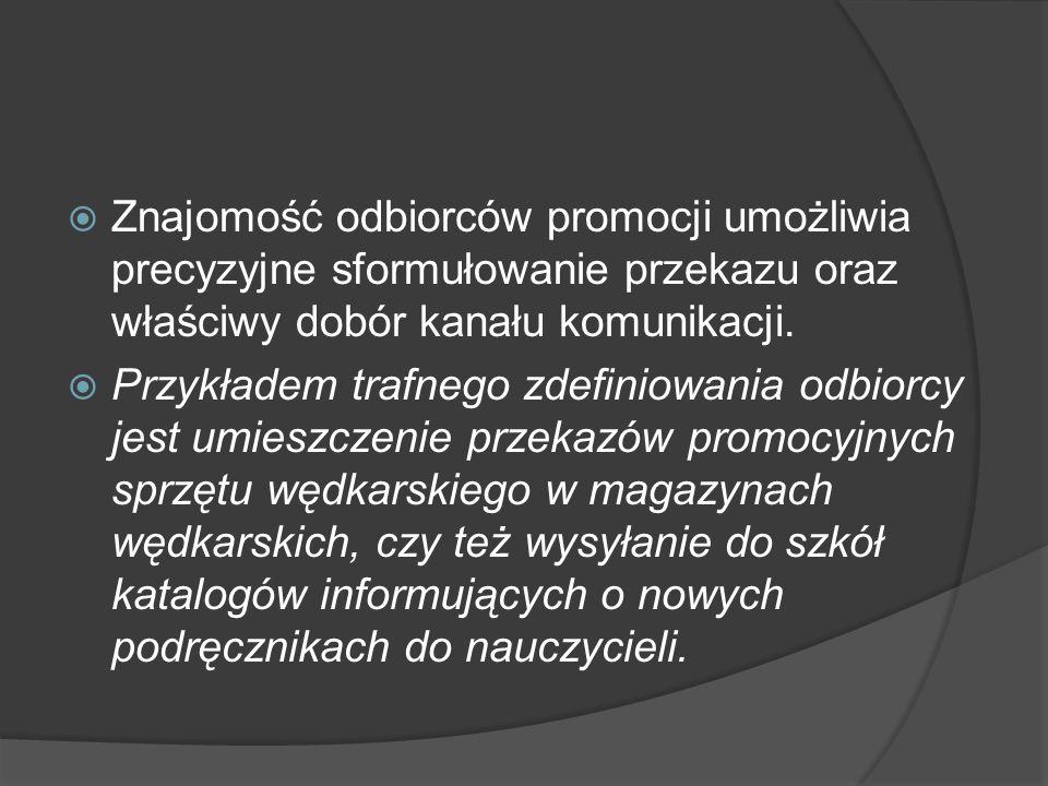 Ćwiczenie 2  Spróbuj zaprojektować przekaz promocyjny, którego celem ma być nakłonienie konsumentów do zwiększenia częstotliwości zakupu wody mineralnej.