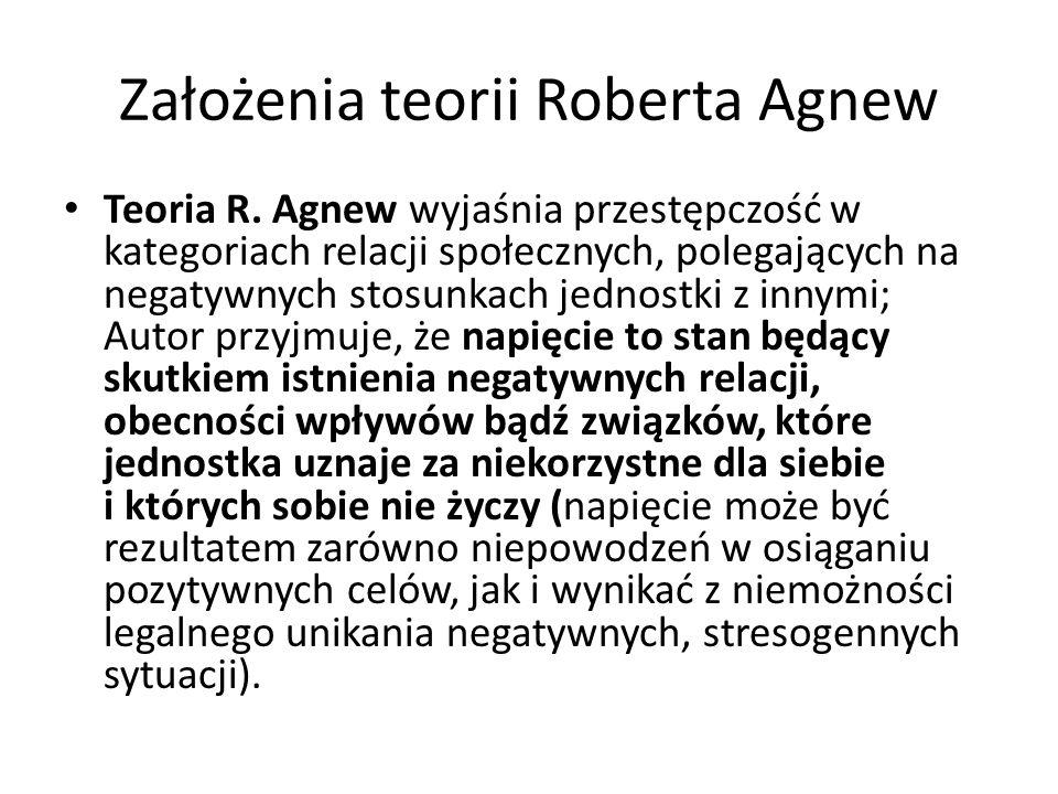 Założenia teorii Roberta Agnew Teoria R.