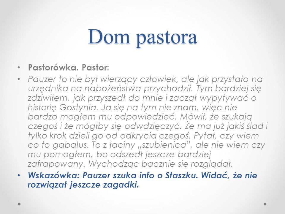 Dom pastora Pastorówka.