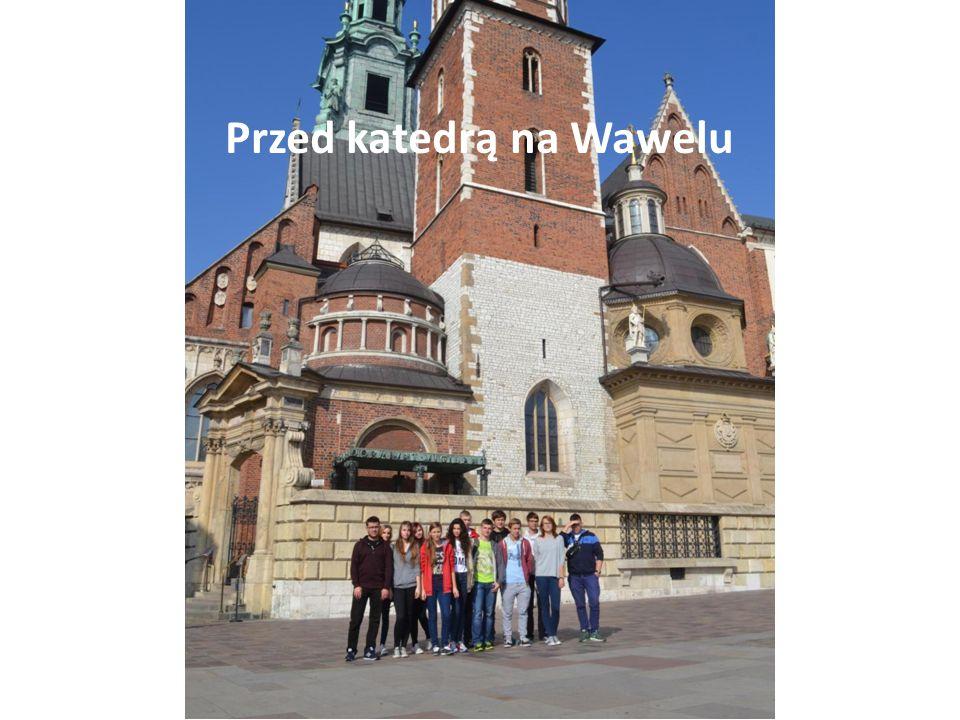 Przed katedrą na Wawelu