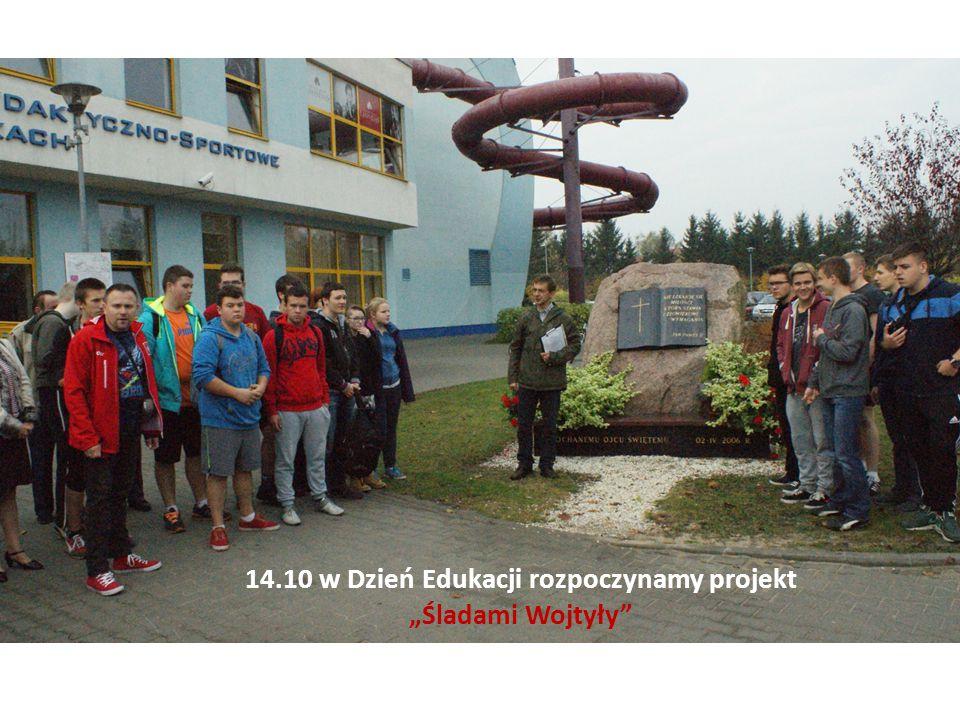 """14.10 w Dzień Edukacji rozpoczynamy projekt """"Śladami Wojtyły"""