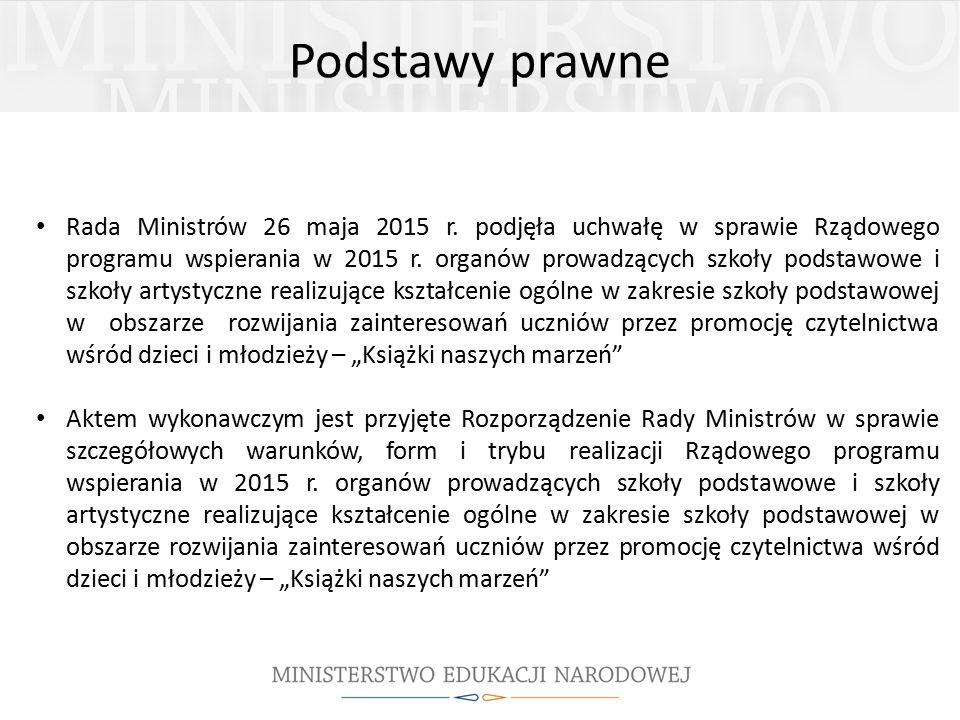 Podstawy prawne Rada Ministrów 26 maja 2015 r.