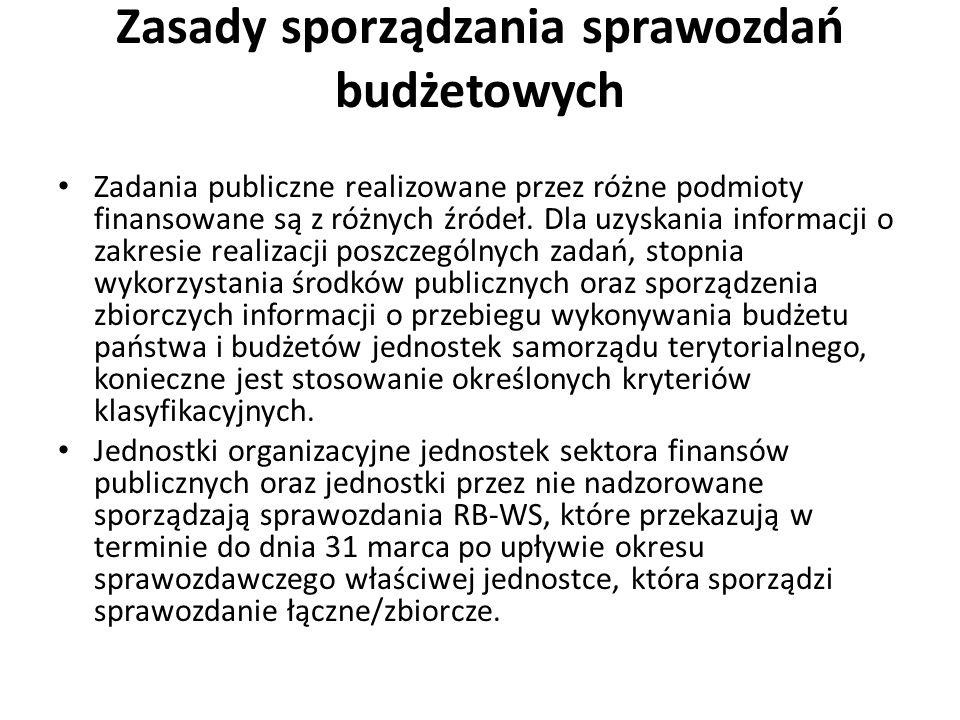 Jednostka sektora finansów publicznych sporządza sprawozdanie z wydatków poniesionych.