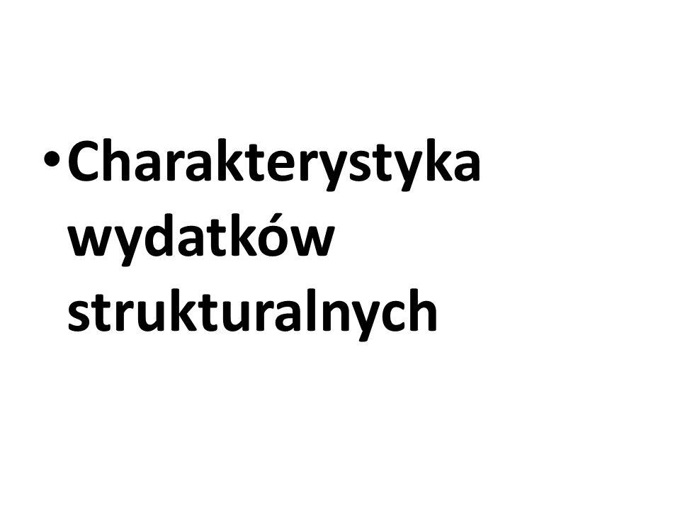 Charakterystyka wydatków strukturalnych