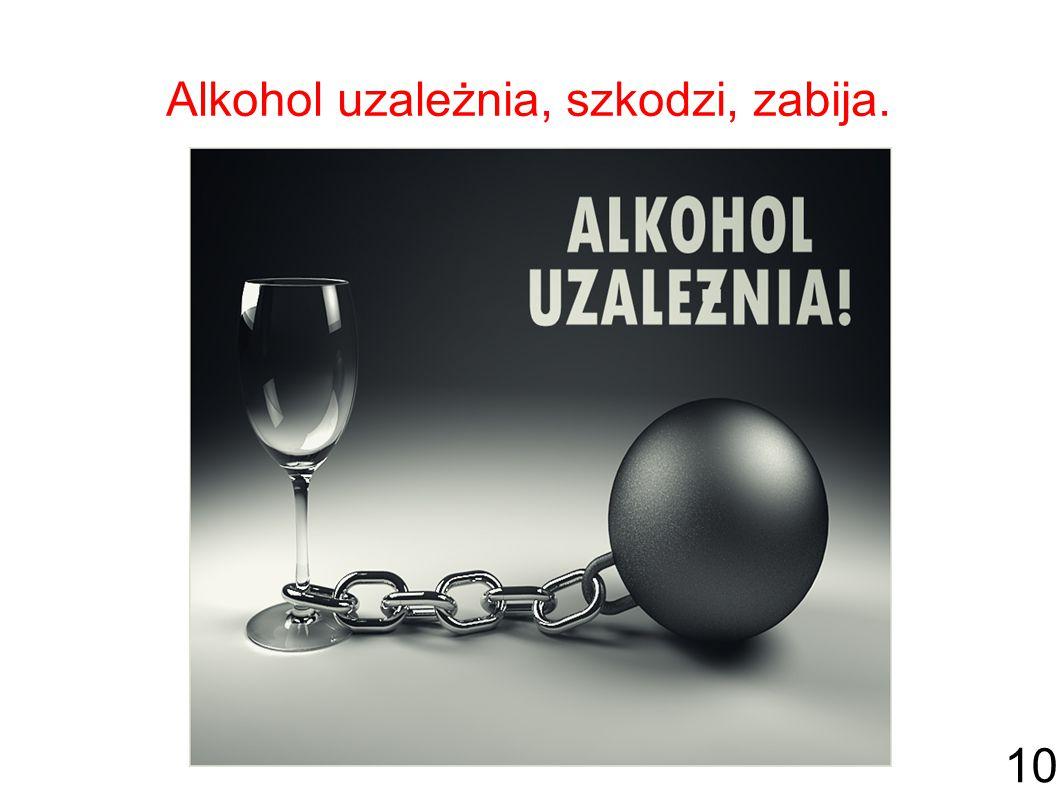 Alkohol uzależnia, szkodzi, zabija. 10