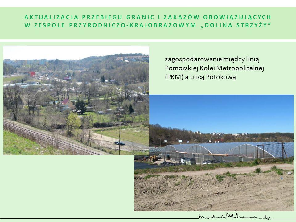 zagospodarowanie między linią Pomorskiej Kolei Metropolitalnej (PKM) a ulicą Potokową