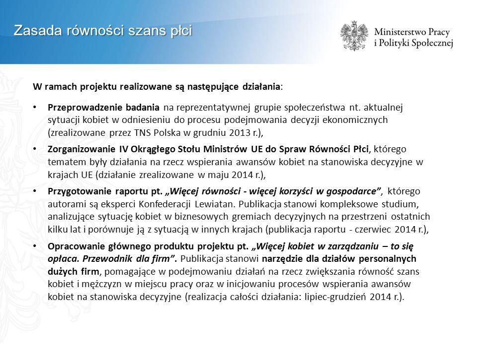 W ramach projektu realizowane są następujące działania: Przeprowadzenie badania na reprezentatywnej grupie społeczeństwa nt.