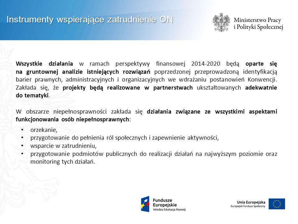 Wszystkie działania w ramach perspektywy finansowej 2014-2020 będą oparte się na gruntownej analizie istniejących rozwiązań poprzedzonej przeprowadzoną identyfikacją barier prawnych, administracyjnych i organizacyjnych we wdrażaniu postanowień Konwencji.