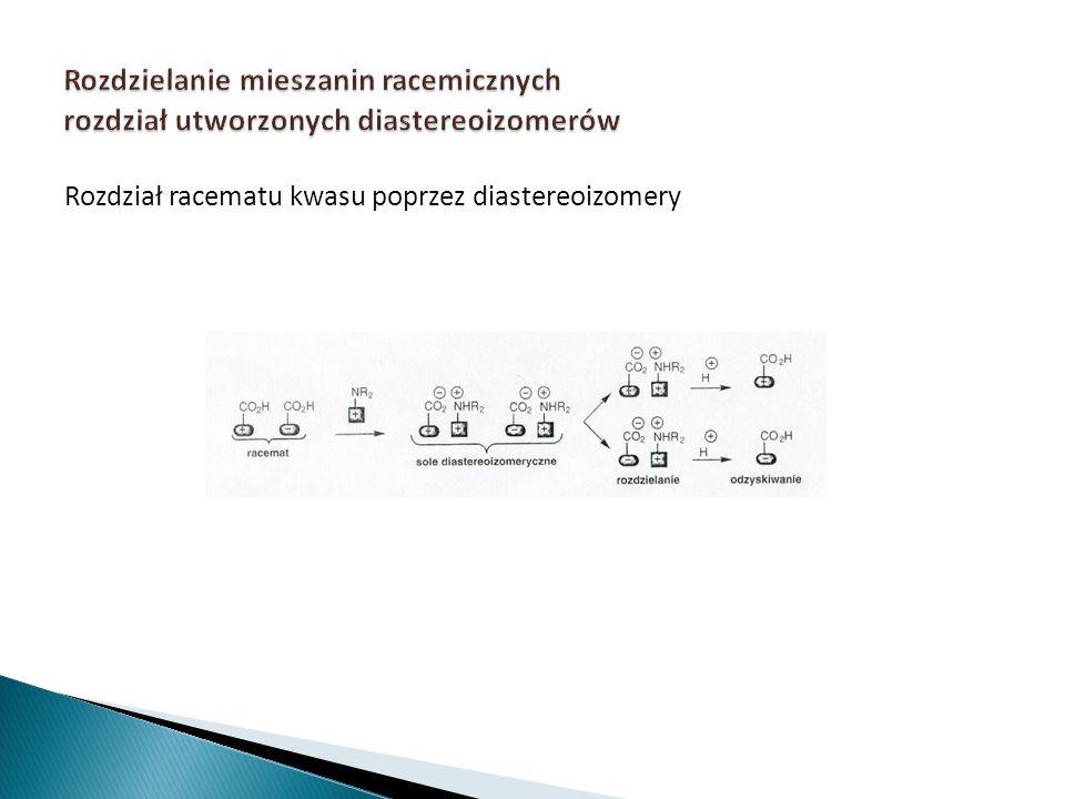 Rozdział racematu kwasu poprzez diastereoizomery