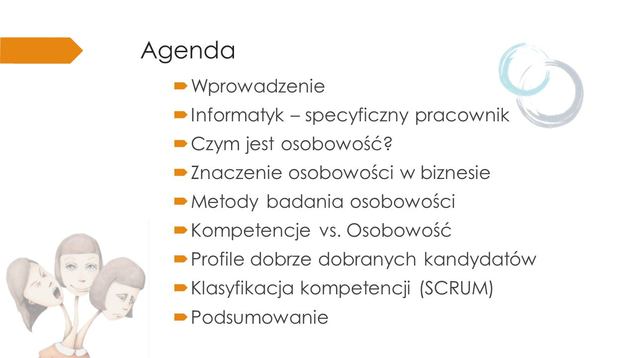 Agenda  Wprowadzenie  Informatyk – specyficzny pracownik  Czym jest osobowość.