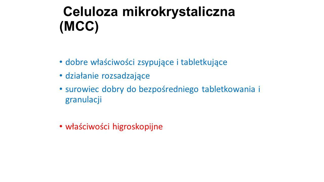Celuloza mikrokrystaliczna (MCC) 20 dobre właściwości zsypujące i tabletkujące działanie rozsadzające surowiec dobry do bezpośredniego tabletkowania i
