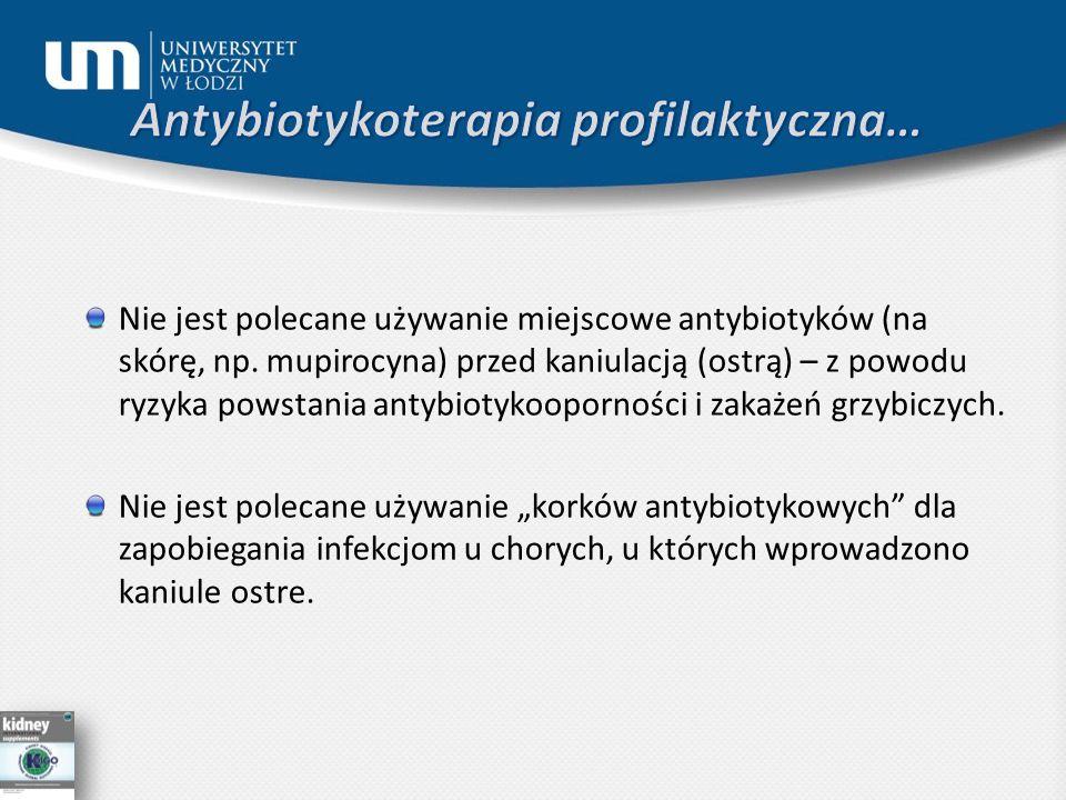 Nie jest polecane używanie miejscowe antybiotyków (na skórę, np.