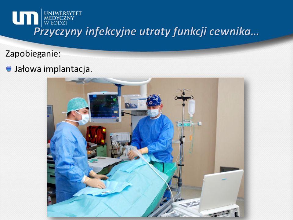 Zapobieganie: Jałowa implantacja.