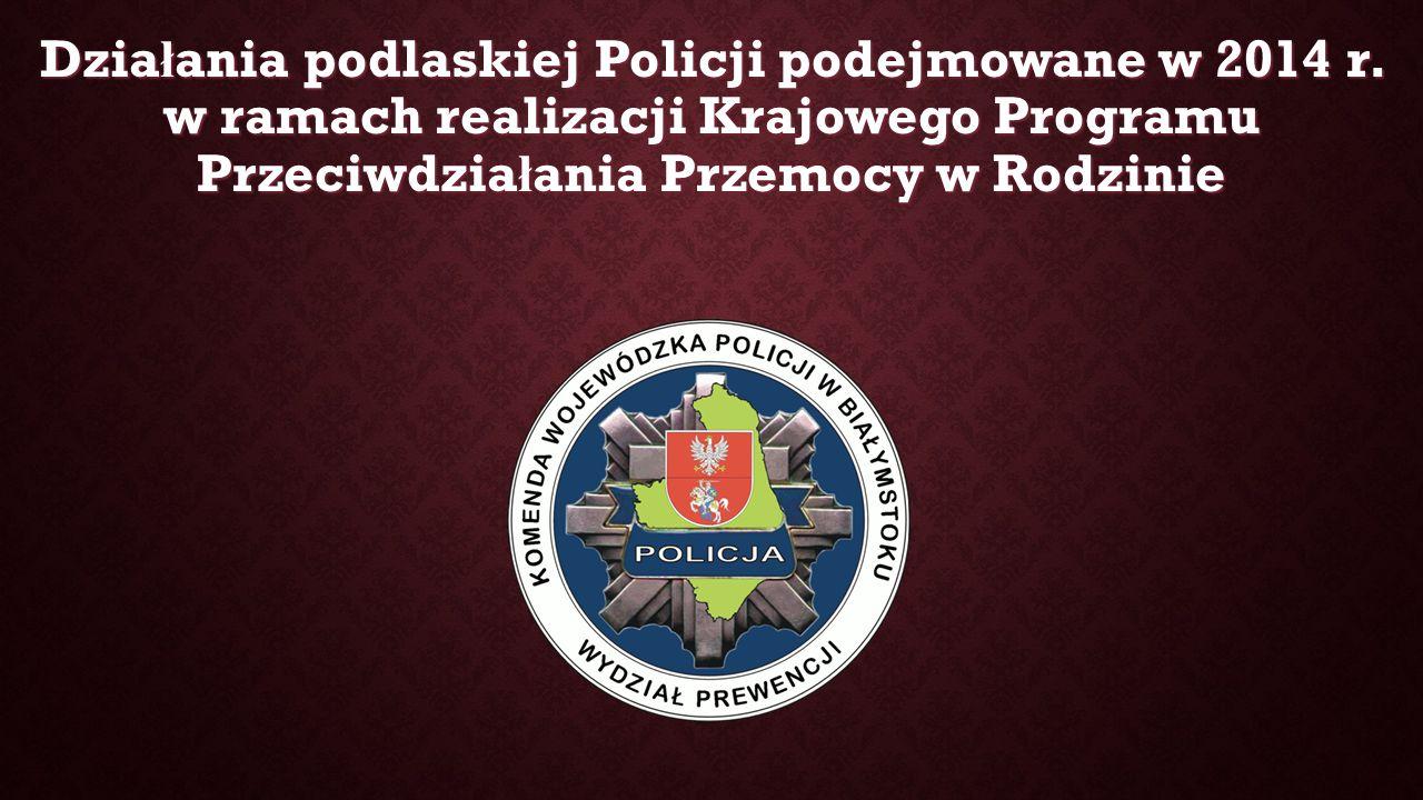 Dzia ł ania podlaskiej Policji podejmowane w 2014 r.