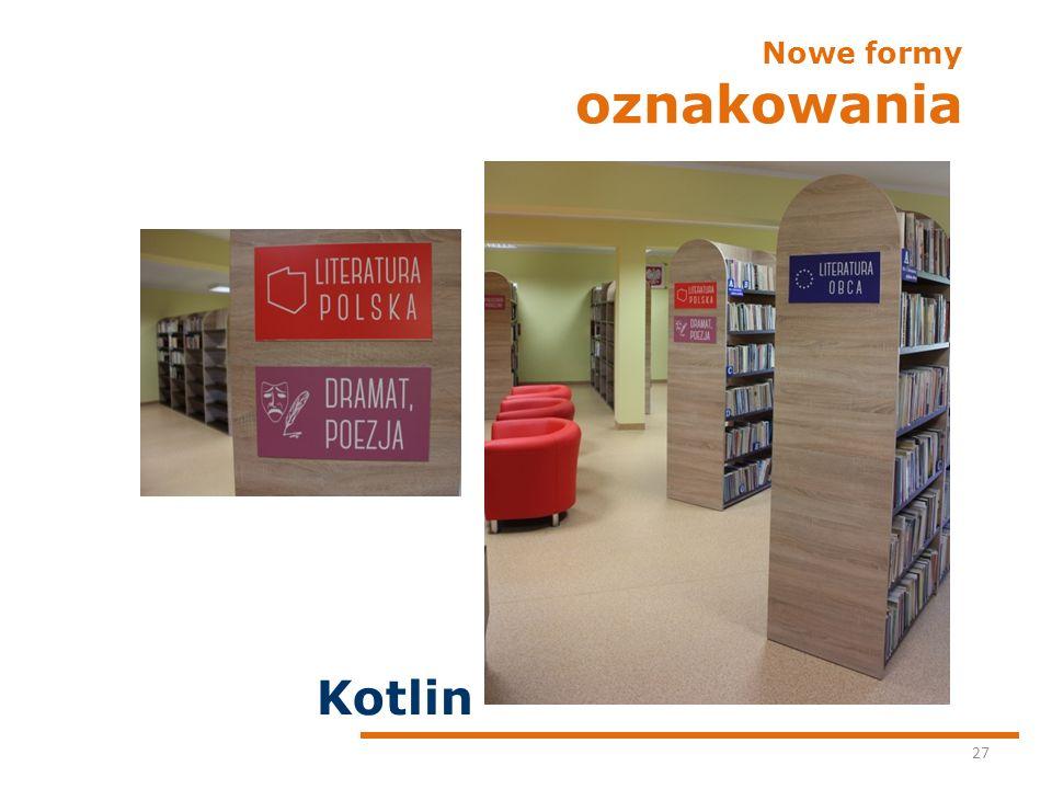 Nowe formy oznakowania 27 Kotlin