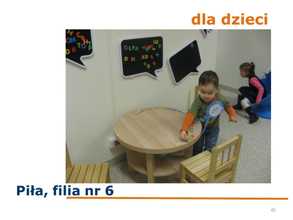 dla dzieci 40 Piła, filia nr 6