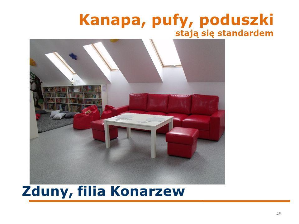 Kanapa, pufy, poduszki stają się standardem 45 Zduny, filia Konarzew