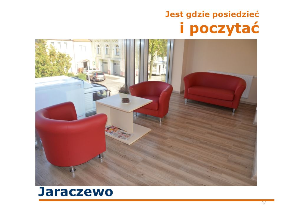 Jest gdzie posiedzieć i poczytać 47 Jaraczewo
