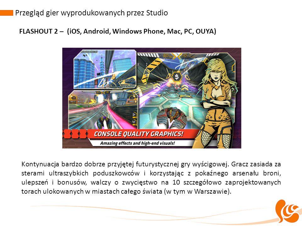 Przegląd gier wyprodukowanych przez Studio FLASHOUT 2 – (iOS, Android, Windows Phone, Mac, PC, OUYA) Kontynuacja bardzo dobrze przyjętej futurystyczne