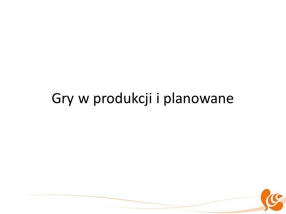 Gry w produkcji i planowane