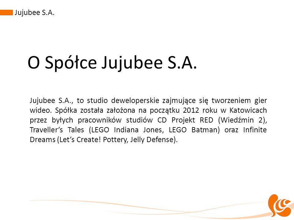 O Spółce Jujubee S.A. Jujubee S.A., to studio deweloperskie zajmujące się tworzeniem gier wideo. Spółka została założona na początku 2012 roku w Katow