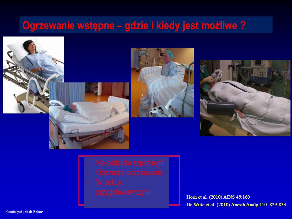 © 3M 2015 All Rights Reserved.. 24 Matjaz Preseren Courtesy of prof.dr. Bräuer Ogrzewanie wstępne – gdzie i kiedy jest możliwe ? -Na oddziale szpitaln