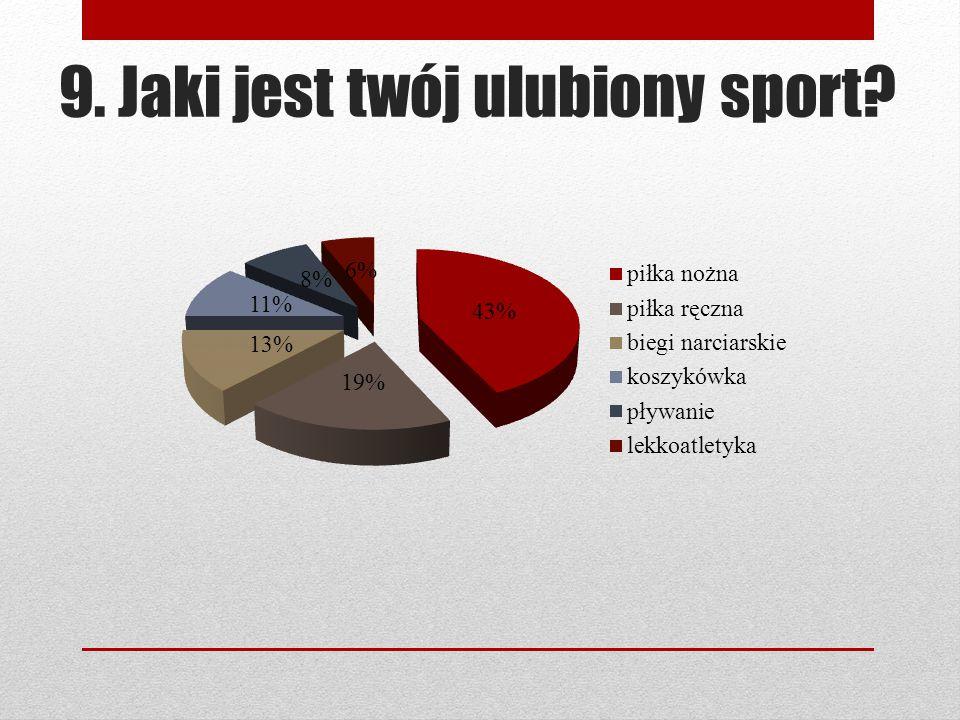 9. Jaki jest twój ulubiony sport?