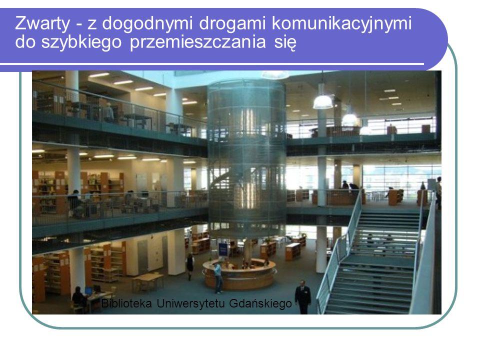 Zwarty - z dogodnymi drogami komunikacyjnymi do szybkiego przemieszczania się Biblioteka Uniwersytetu Gdańskiego