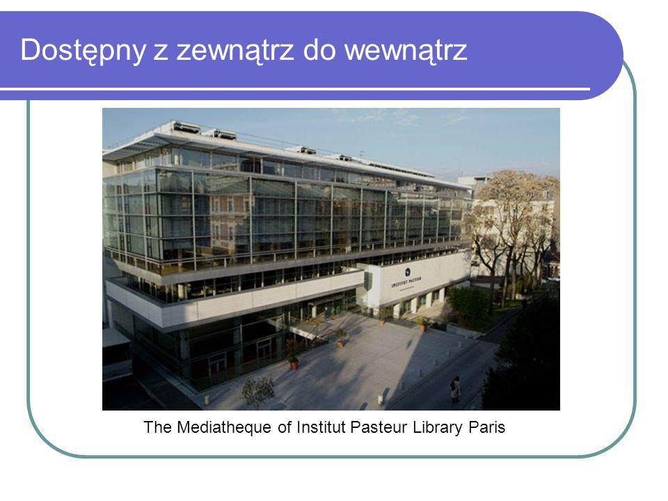 Dostępny z zewnątrz do wewnątrz The Mediatheque of Institut Pasteur Library Paris