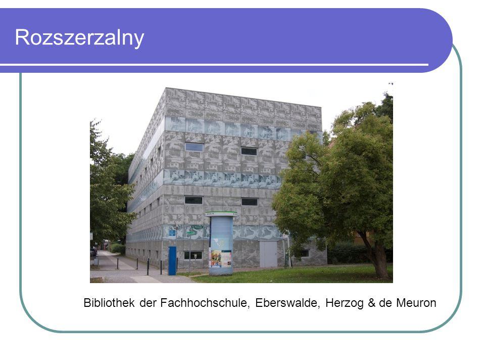 Rozszerzalny Bibliothek der Fachhochschule, Eberswalde, Herzog & de Meuron