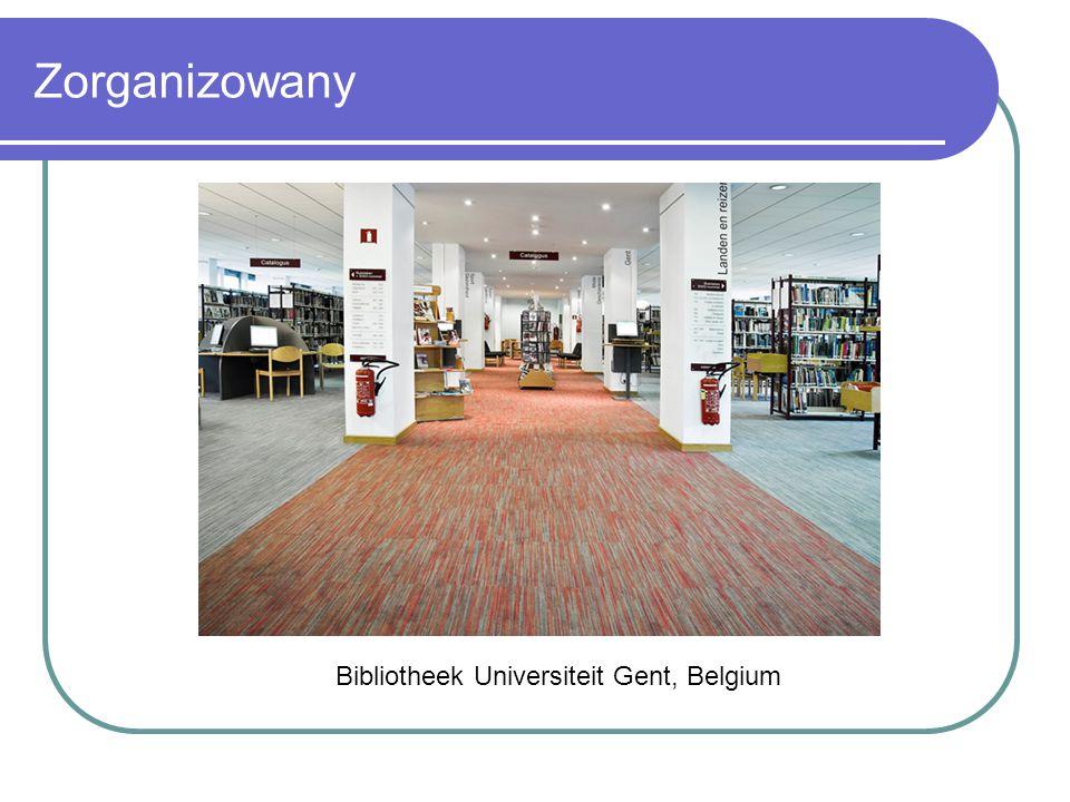 Zorganizowany Bibliotheek Universiteit Gent, Belgium
