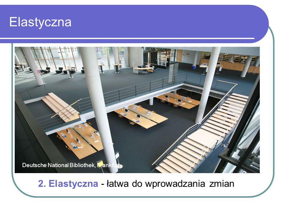 Elastyczna Deutsche National Bibliothek, Frankfurt 2. Elastyczna - łatwa do wprowadzania zmian
