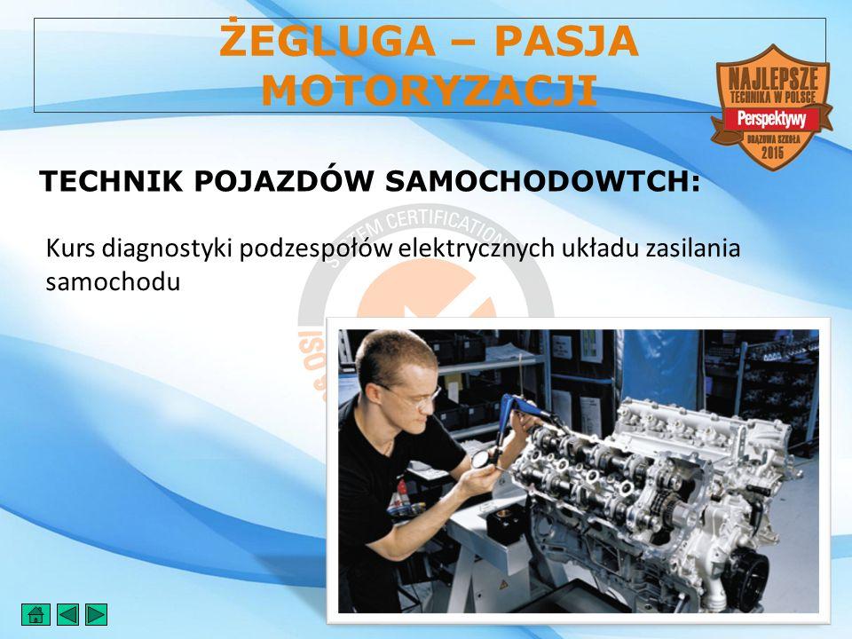 ŻEGLUGA – PASJA MOTORYZACJI TECHNIK POJAZDÓW SAMOCHODOWTCH: Kurs diagnostyki podzespołów elektrycznych układu zasilania samochodu