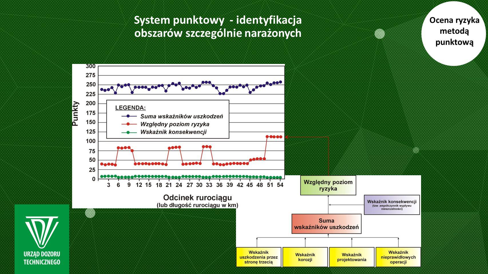 System punktowy - identyfikacja obszarów szczególnie narażonych Ocena ryzyka metodą punktową