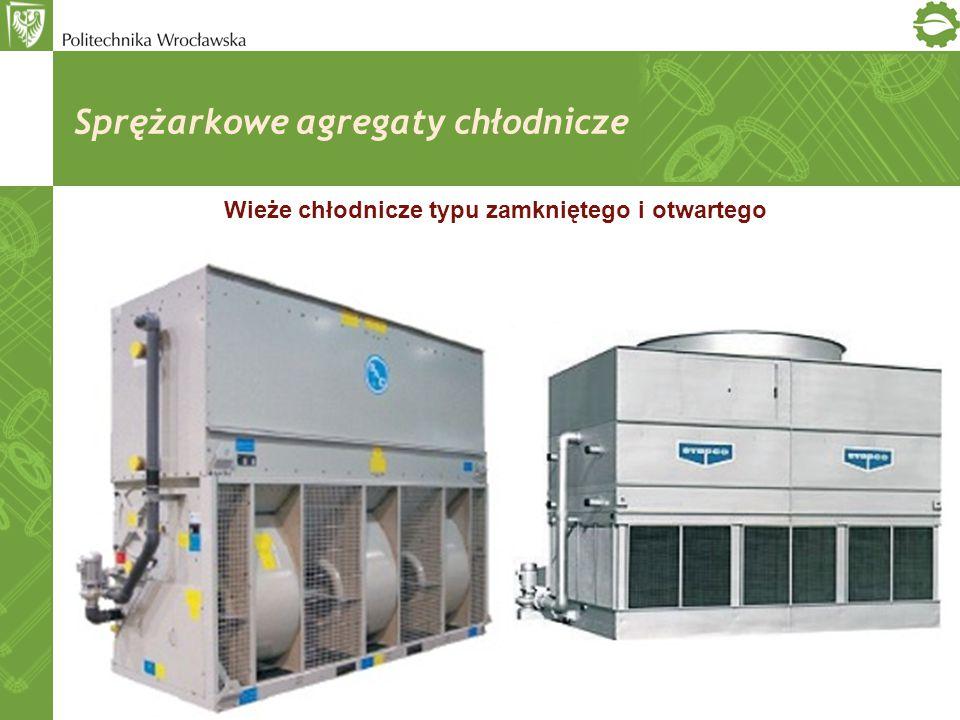 Sprężarkowe agregaty chłodnicze Wieże chłodnicze typu zamkniętego i otwartego