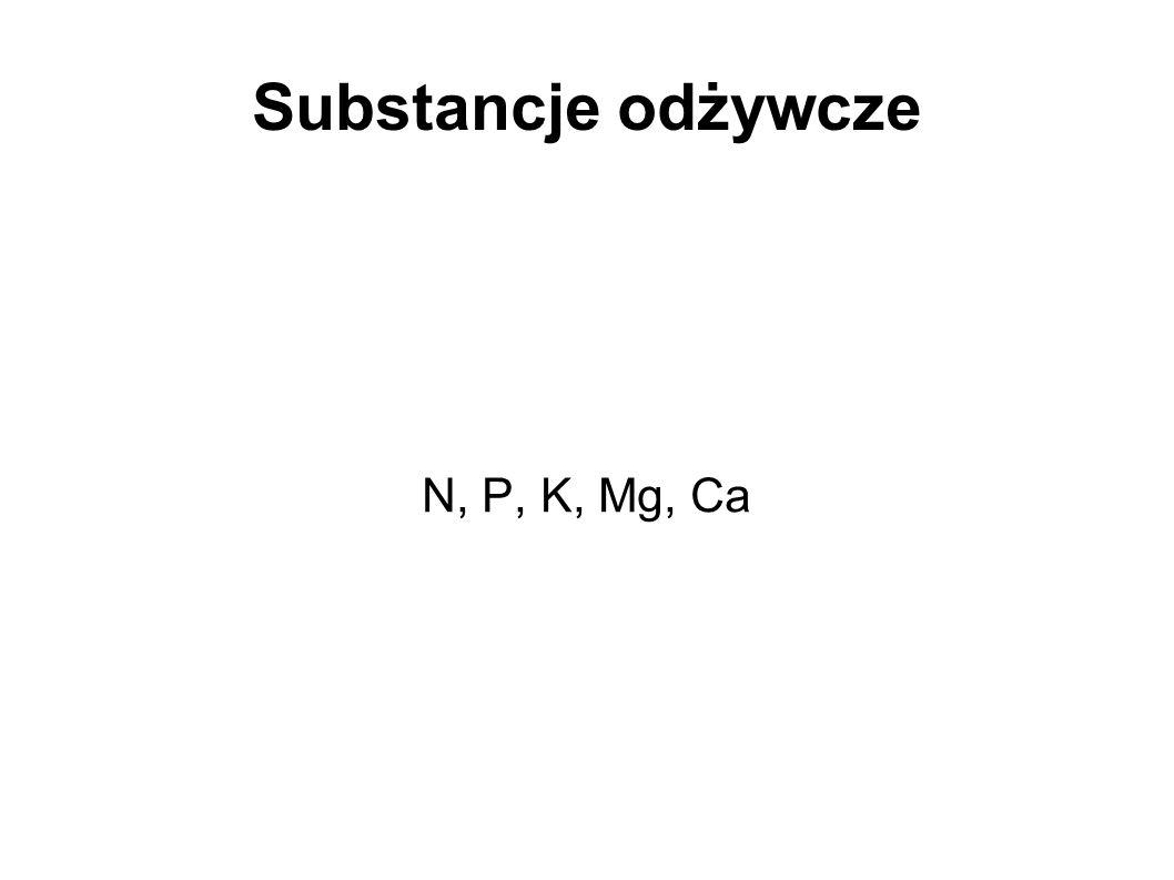 Substancje odżywcze N, P, K, Mg, Ca