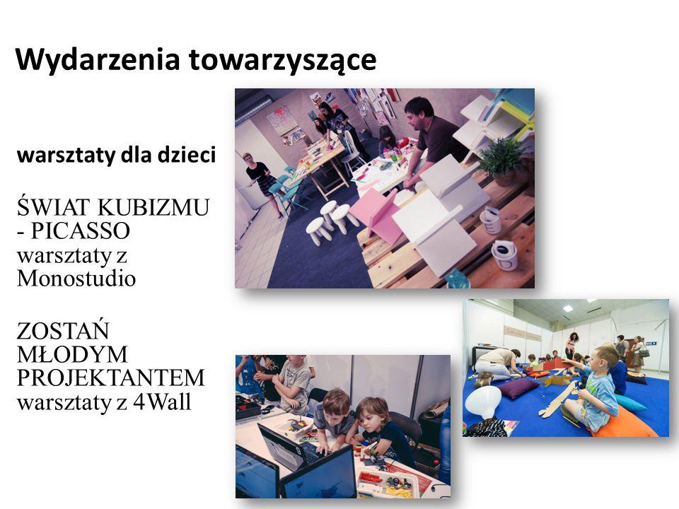Wydarzenia towarzyszące warsztaty dla dzieci ŚWIAT KUBIZMU - PICASSO warsztaty z Monostudio ZOSTAŃ MŁODYM PROJEKTANTEM warsztaty z 4Wall
