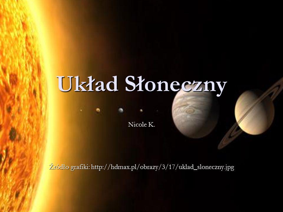 Układ Słoneczny Nicole K. Źródło grafiki: http://hdmax.pl/obrazy/3/17/uklad_sloneczny.jpg