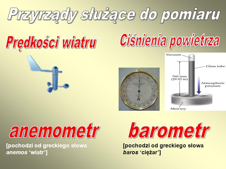 [pochodzi od greckiego słowa anemos 'wiatr'] [pochodzi od greckiego słowa baros 'ciężar']
