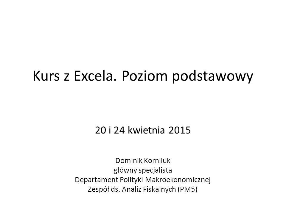 Kurs z Excela.