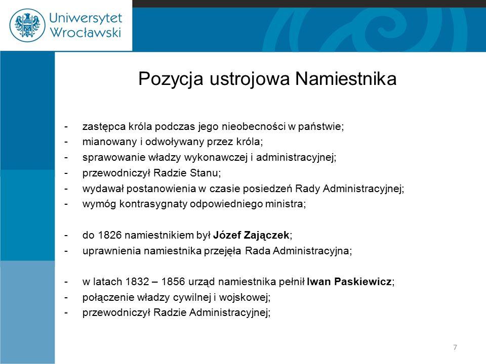 Sejm w Królestwie Polskim Kompetencje sejmu: -ustawodawstwo cywilne, karne i administracyjne, -uchwalanie podatków i innych ciężarów publicznych oraz budżetu, -stanowienie o systemie monetarnym, -decydowanie o zaciągu do wojska, -ograniczona kontrola rządu – uwagi o jego funkcjonowaniu przedkładane królowi, -sąd sejmowy: w jego skład wchodzili wszyscy senatorowie – orzekał w najcięższych przestępstwach politycznych, 18