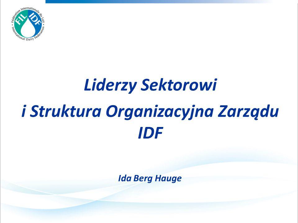 Liderzy Sektorowi i Struktura Organizacyjna Zarządu IDF Ida Berg Hauge