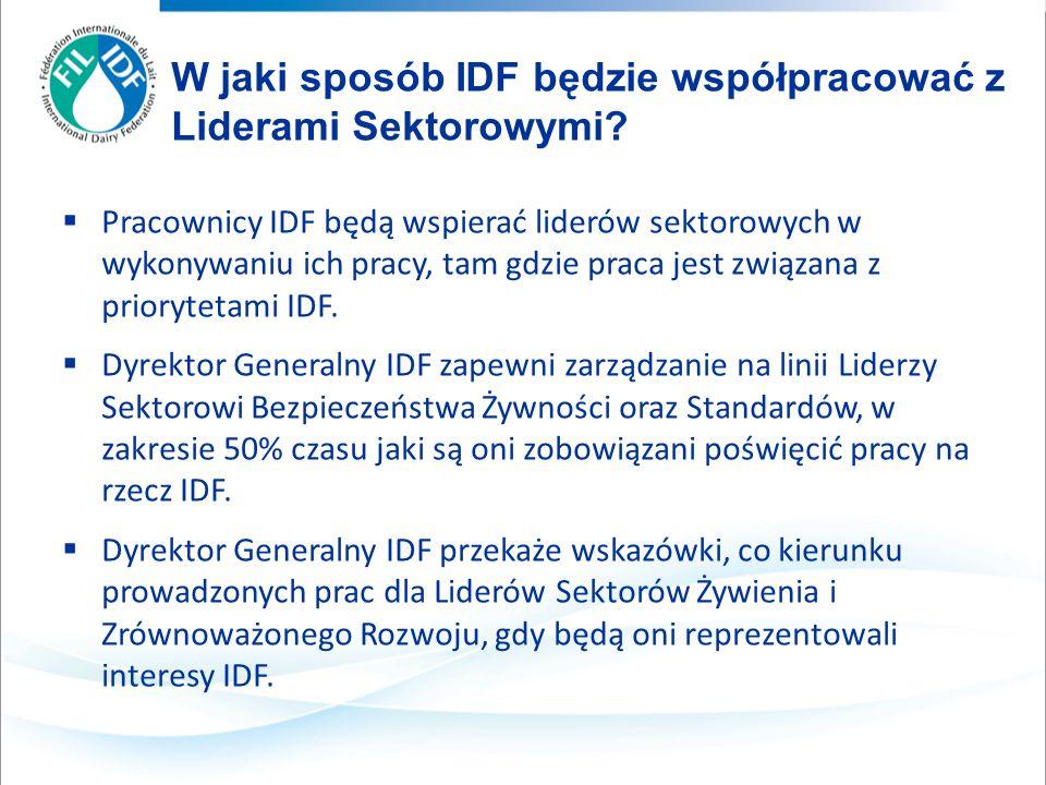  Pracownicy IDF będą wspierać liderów sektorowych w wykonywaniu ich pracy, tam gdzie praca jest związana z priorytetami IDF.