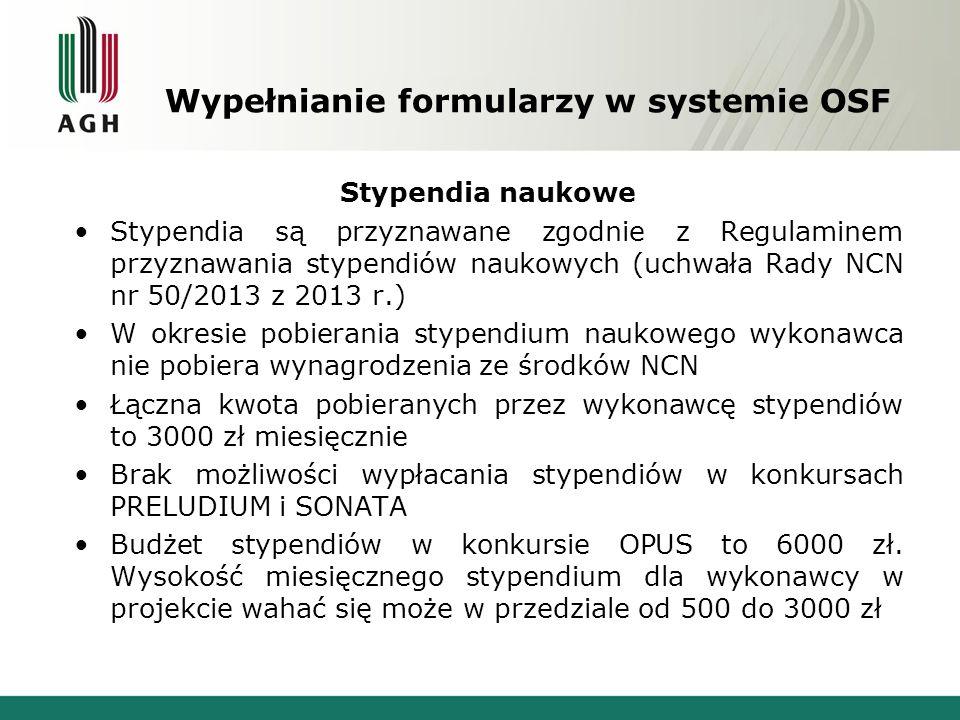 Stypendia naukowe Stypendia są przyznawane zgodnie z Regulaminem przyznawania stypendiów naukowych (uchwała Rady NCN nr 50/2013 z 2013 r.) W okresie p