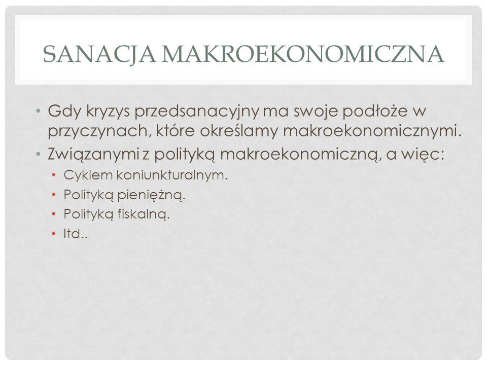 FUNKCJE UPADŁOŚCI WG ZEDLERA (1) Funkcja naprawcza (sanacja!).