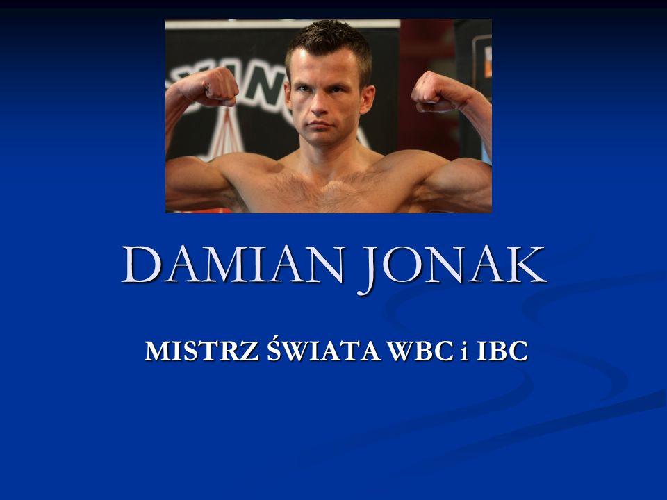 6.Jak brzmi pseudonim bokserski Damiana Jonaka.